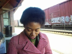 Me in my Afro glory, freshman year of college