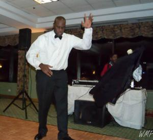 Brotha Aaron tearing it up at our wedding in Jan 2013