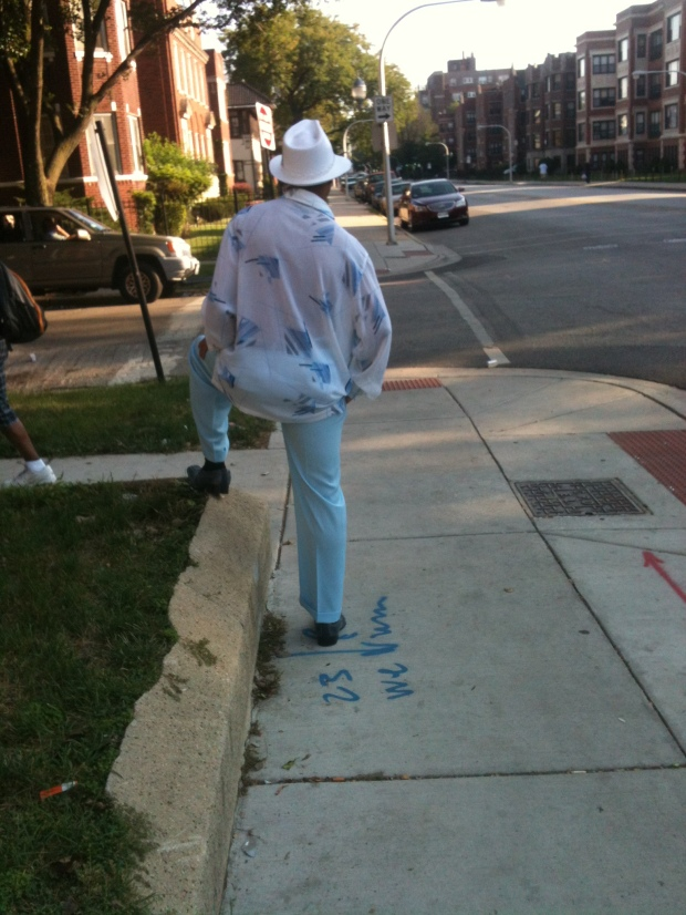Semi-random pic, but he looks like he knows how to step. Pic taken at 70th & Jeffrey in Chicago by yours truly.