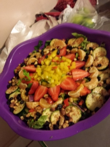 A beautiful vegan dish made by Destiny. Check out more pics and recipes at her blog, Fit2Luv.