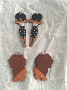"My new ""kinky hair don't care"" earrings"