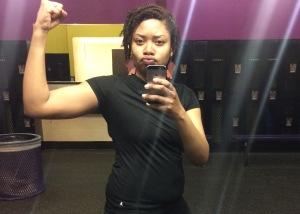 Shameless gym selfie. April 10, 2015.