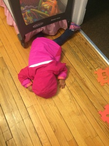 Little L. After we came home from the store one day, she threw a tantrum then fell asleep on the floor...smh