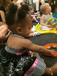 Little L at her Old Town School of Folk Music class, Summer 2014