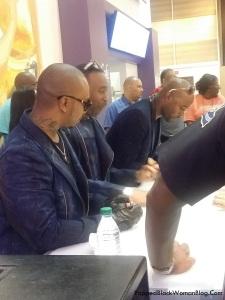 Bad Boy R&B group, 112 signing autographs at Essence Fest 2015