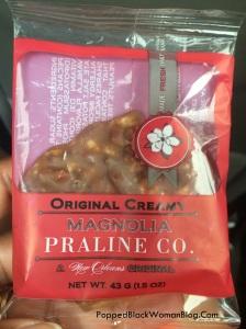 NOLA praline from Magnolia Sugar & Spice Praline Kitchen & Hot Sauce Bar