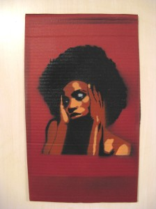 """Disclaimer: I have no rights to this photo. Copyright by asboluv, """"tortured soul (asboluv - stencil on cardboard)"""" CC BY 2.0"""